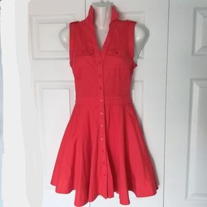 Armani Exchange red sleeveless dress with pockets